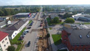 Kaugküttevõrgu ehitustööd Võru linnas Räpina maanteel